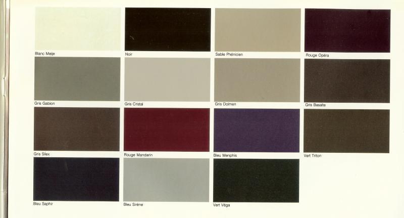 Nuancier de couleur peinture voiture - Echeancier de couleur peinture ...