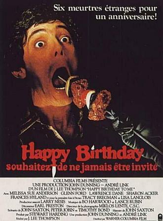 HAPPY BIRTHDAY, Souhaitez de ne jamais y être invité (1982) happy-birthday-affiche-affc53